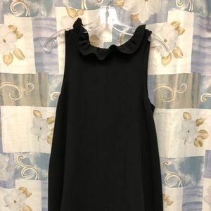 Tie neck sleeveless dress